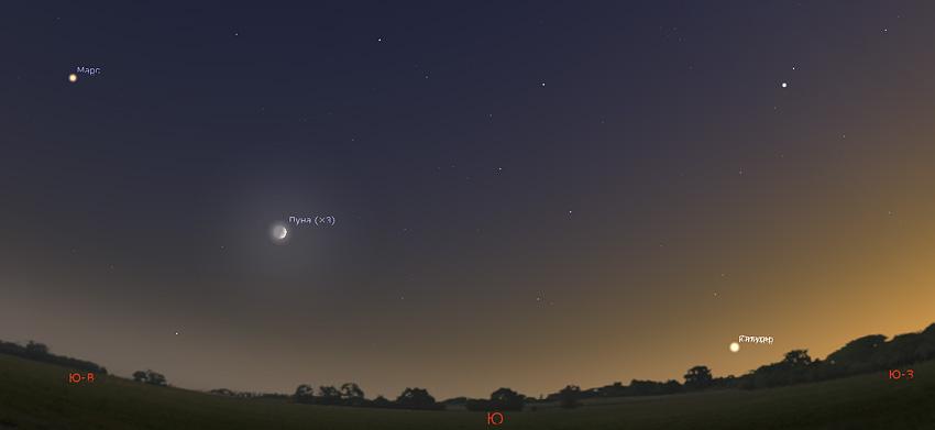 Соединение Юпитера и Сатурна 21 декабря 2020 года 04