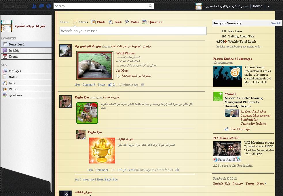 شرح تغيير ستايل الفايس بوك بالصور – Mozilla FireFox 4