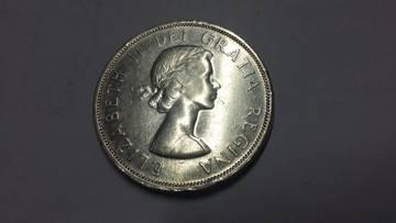 1 Dólar Canadá 1958. Columbia Británica. N8TOt