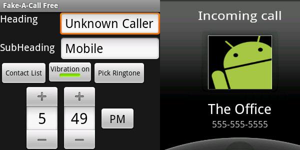 Fake-A-Call app Fake-a-call