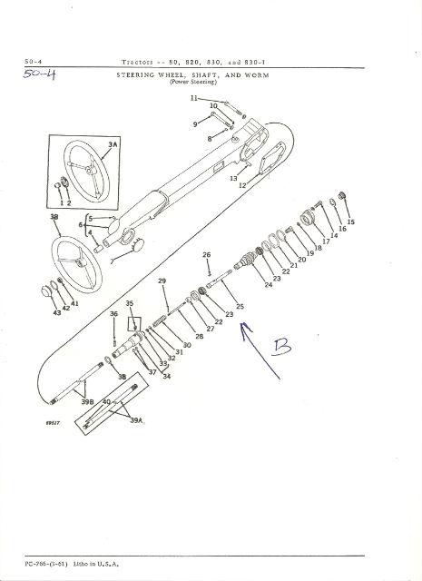 Power Steering john deere 820 Xyux7u