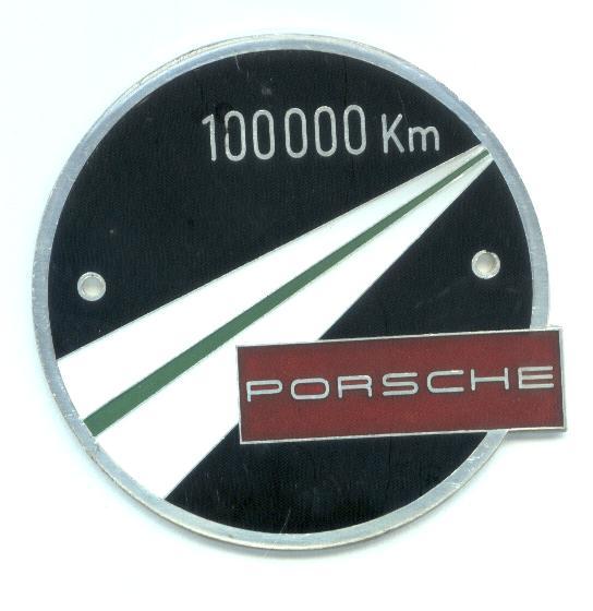 plaquette 100.000 km porsche 468olq