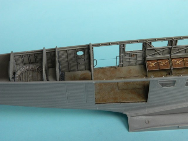 Ju-52. Revell1/48. Uho1ji