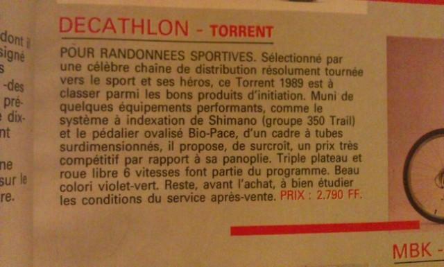 VTT Décathlon TORRENT K3 1991 21 V Usuze0