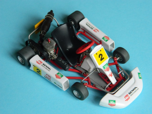 Kart  A. SENNA Bercy 93. Fujimi 1/20ème. fini. 3j4p8d