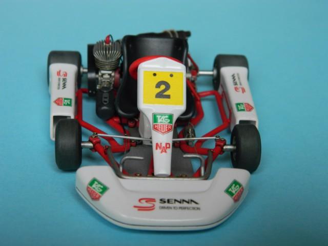 Kart  A. SENNA Bercy 93. Fujimi 1/20ème. fini. 4fi8wj