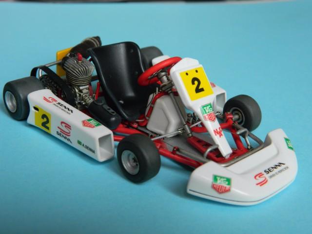 Kart  A. SENNA Bercy 93. Fujimi 1/20ème. fini. 6q6200