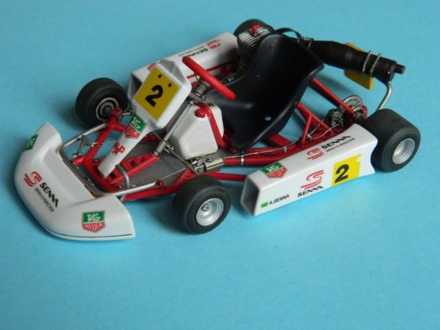 Kart  A. SENNA Bercy 93. Fujimi 1/20ème. fini. G3qjhe