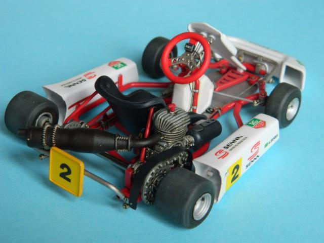 Kart  A. SENNA Bercy 93. Fujimi 1/20ème. fini. Iw1458