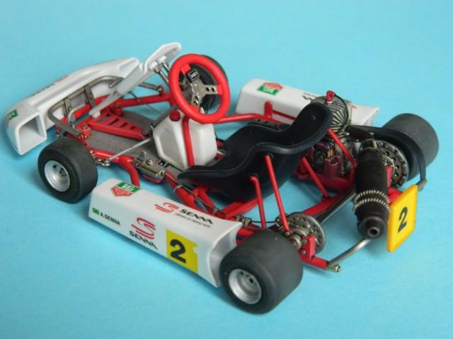 Kart  A. SENNA Bercy 93. Fujimi 1/20ème. fini. Q8n3qt