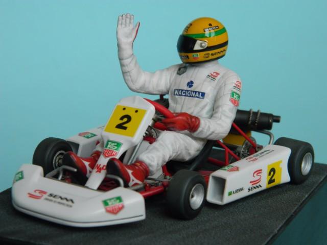 Kart  A. SENNA Bercy 93. Fujimi 1/20ème. fini. Jdj6is