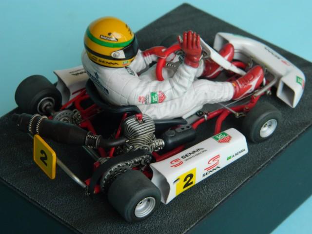 Kart  A. SENNA Bercy 93. Fujimi 1/20ème. fini. Tbejyl