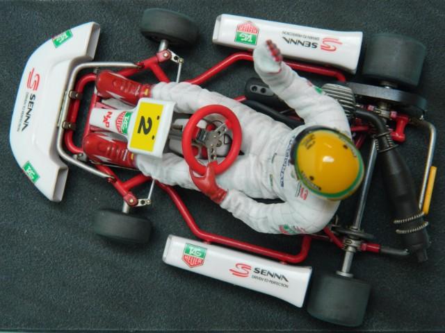 Kart  A. SENNA Bercy 93. Fujimi 1/20ème. fini. W8qdph