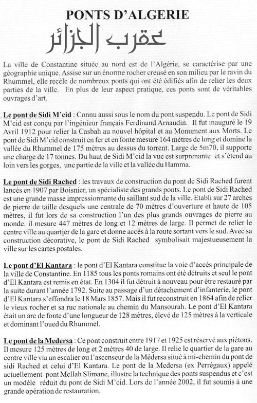 Emission Ponts d'Algerie N2