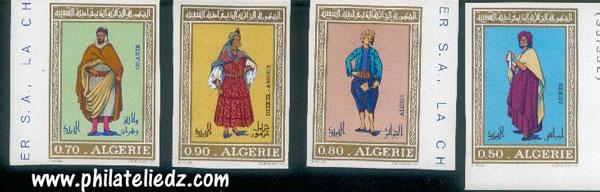 Timbres d'Algérie Non dentelés NDHabit1