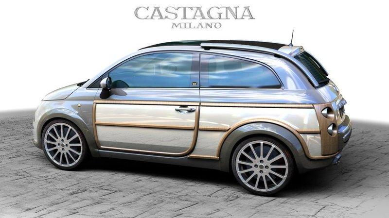 Fiat 500L dove elle stà per large  Castagna500woody