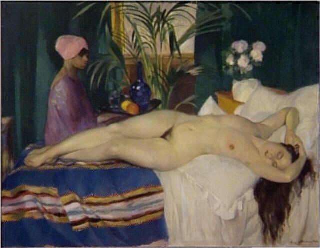 Traces d'Amande Henry-ottmann-courtisane-endormie-1920-centre-g-pompidou-paris