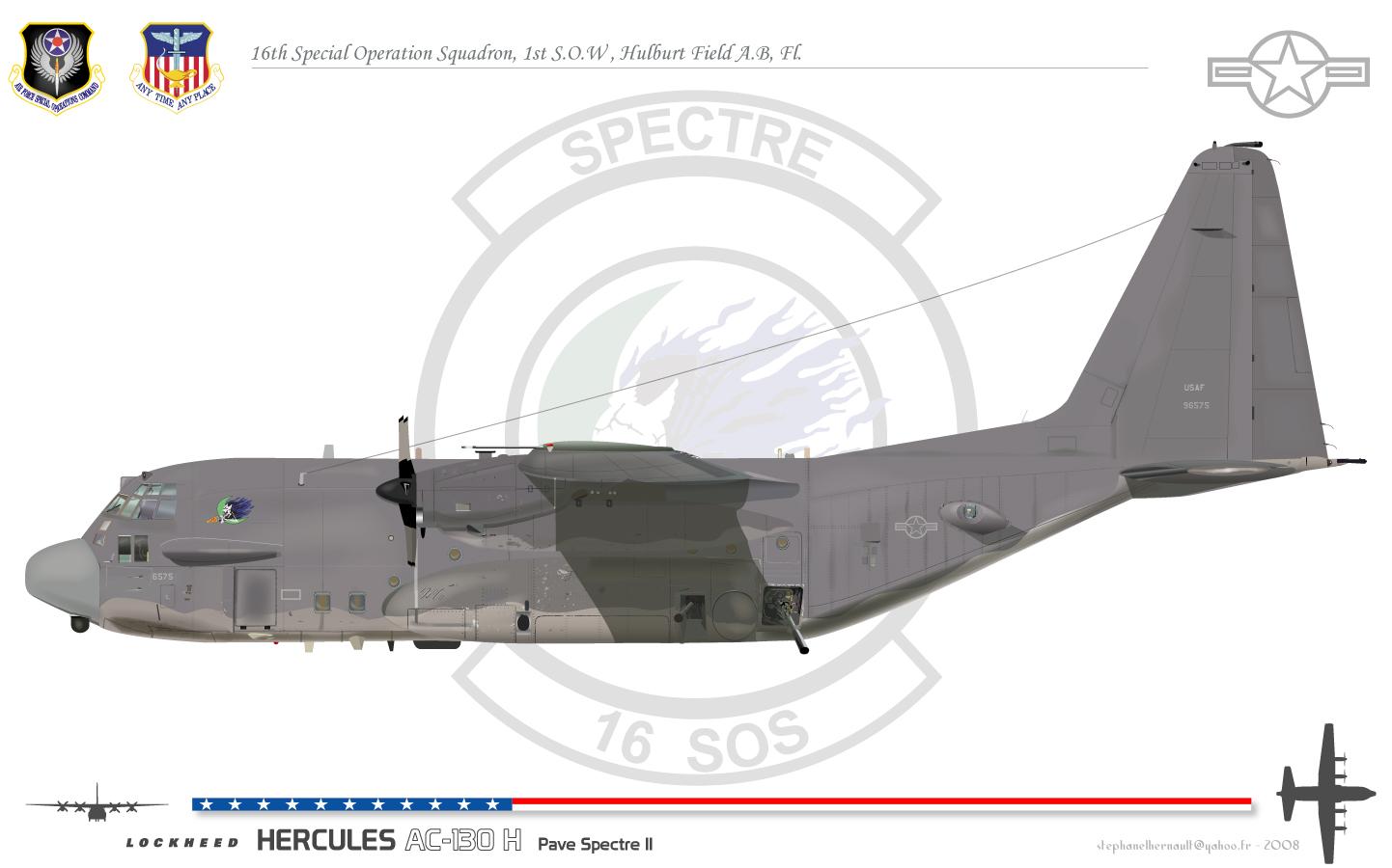 Lockheed C-130 Hercules (avión de transporte táctico medio/pesado USA) Pavespectreii