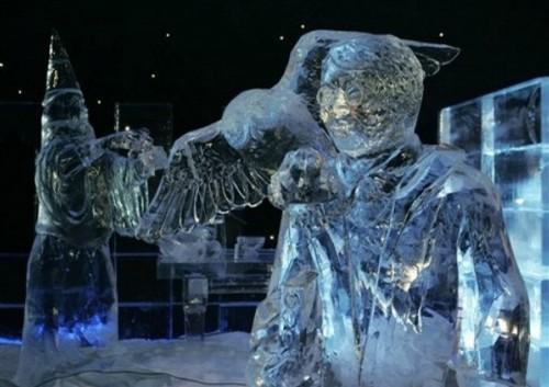 Arte efímero, esculturas en hielo y nieve Festivalhielonieve1