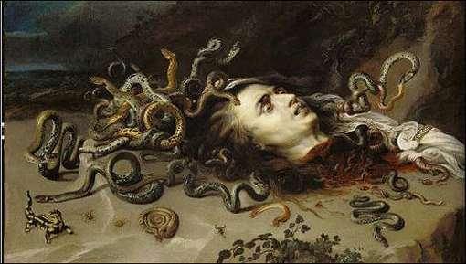 Medusa y sus hermanas  Gorgonas Cabeza-de-Medusa