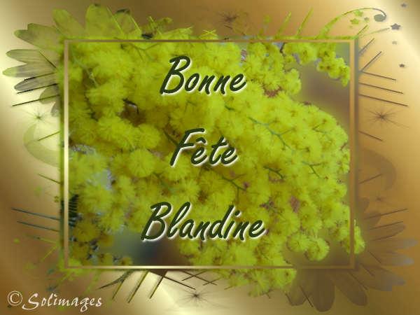 Bon Mercredi . Blandine