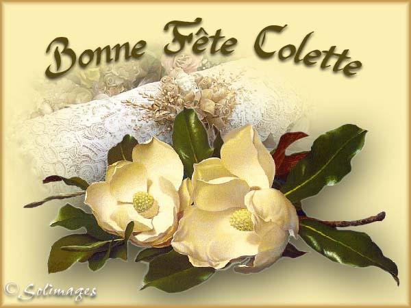 Dimanche 6 mars Colette