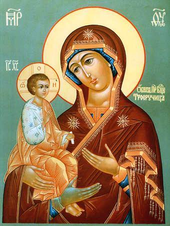 """Пресвятой Богородице перед Ее иконой """"Троеручница"""" 33240401"""