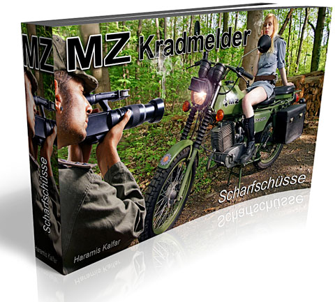 Historique : MZ de l'armée de RDA MZ-Kradmelder-Scharfschuss-l