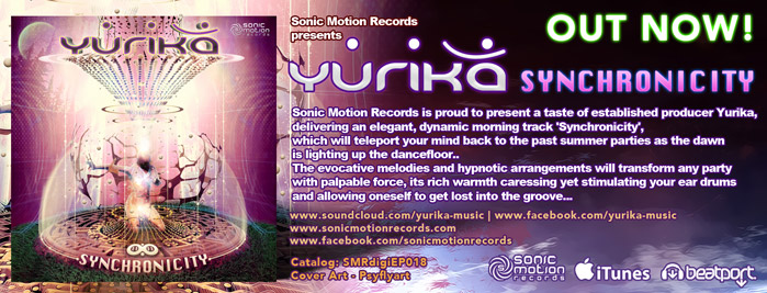 Yurika - Synchronicity - EP - Sonic Motion records - OUT NOW Banner_yurika_synchronicity_outnow