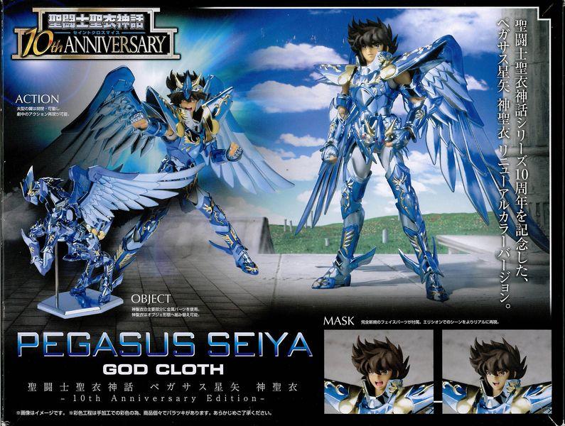 07 - Seiya de Pégase God Cloth - 10th Anniversary Verso