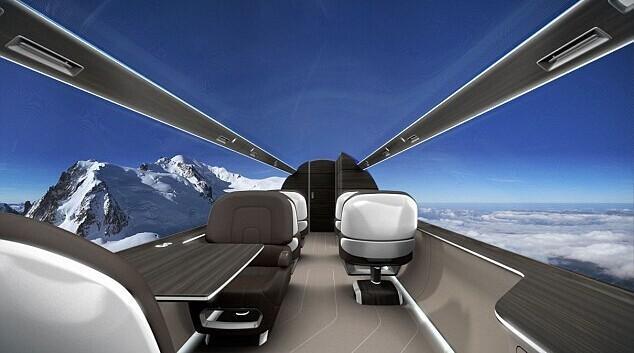 "Avión privado "" transparente"" diseñado por Francia. FOREIGN201408151055000582556261725"
