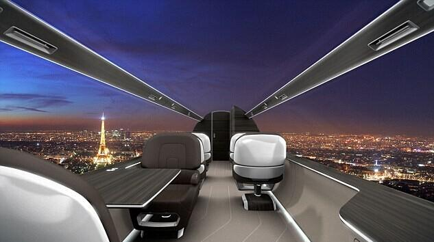 "Avión privado "" transparente"" diseñado por Francia. FOREIGN201408151055000592223354240"