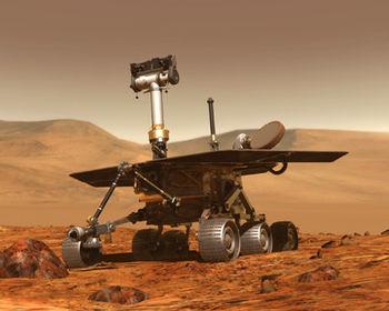 Spirit explore Homeplate 350px-Mars_MER_robot