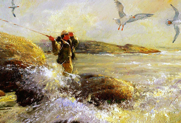 Omaž ribolovcu i ribolovu - Page 9 Luther-hall-painting-saltwater-fly-fishing