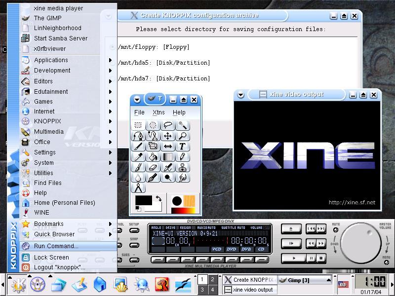 حمل الآن أحد إصدارات ال Unix وهو Knoppix Knoppix-screen