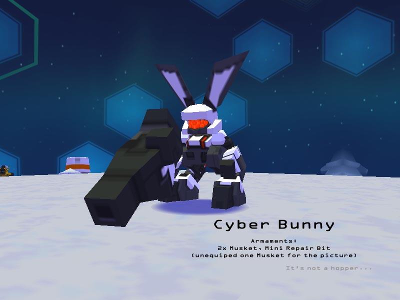 Oh look a bunny! Cyberbunny