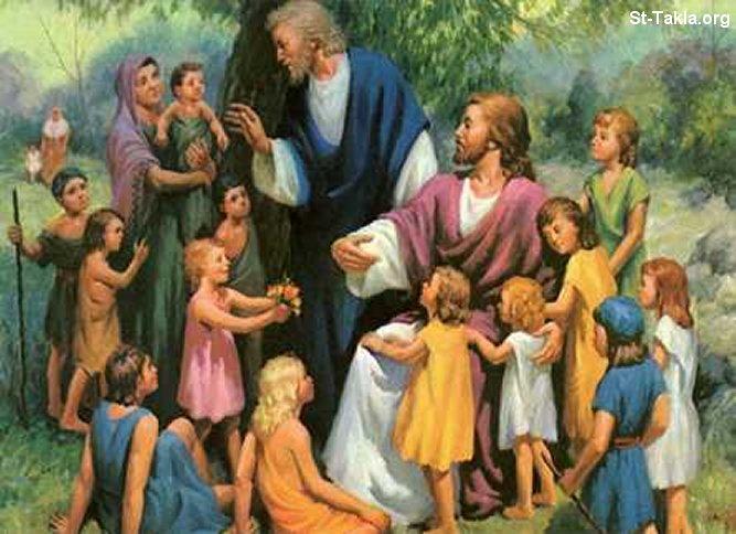 صور من حياة المسيح يارب تعجبكم Www-St-Takla-org___Jesus-with-Children-07