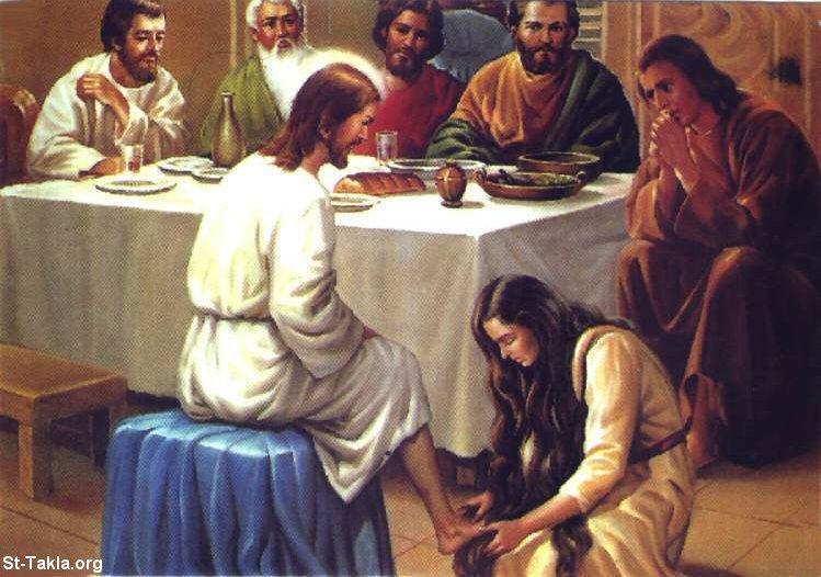 صور من حياة المسيح يارب تعجبكم Www-St-Takla-org___Jesus-with-Sinned-Woman-01