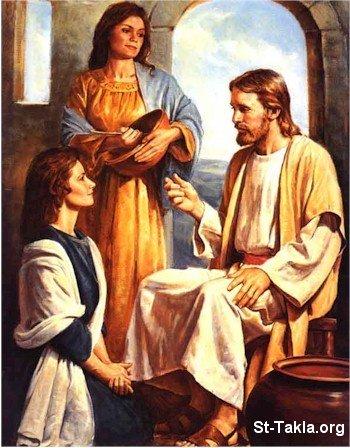 صور من حياة المسيح يارب تعجبكم Www-St-Takla-org___Jesus-with-Mariam-and-Martha-03