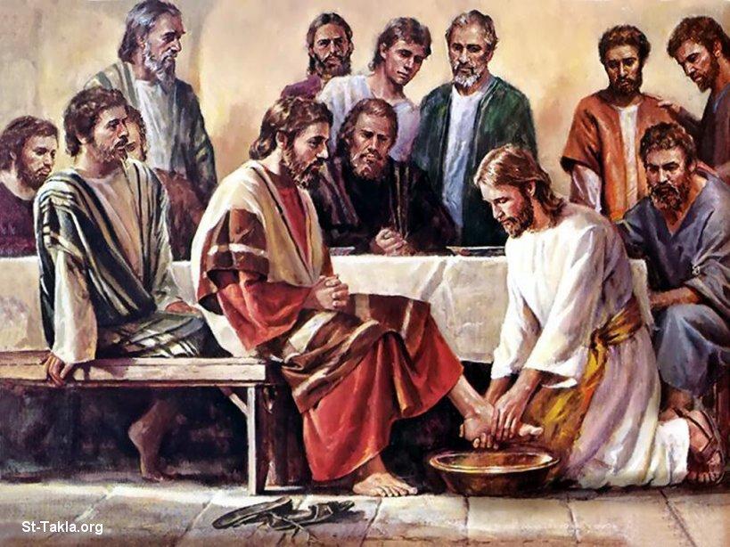 صور من حياة المسيح يارب تعجبكم Www-St-Takla-org___Jesus-Washing-Feet-05