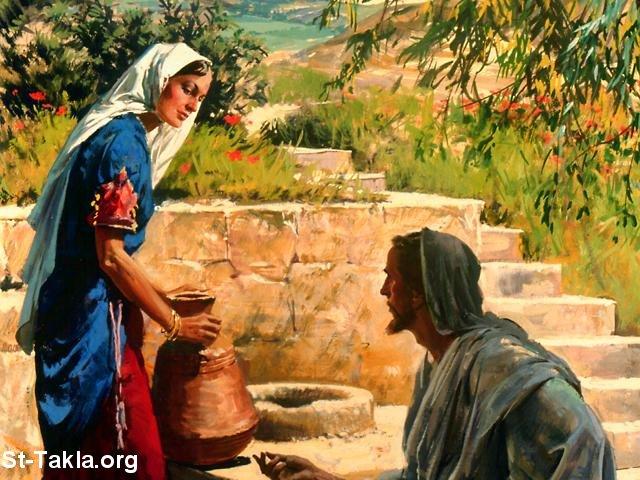 صور من حياة المسيح يارب تعجبكم Www-St-Takla-org___Jesus-with-Samaritan-Woman-03