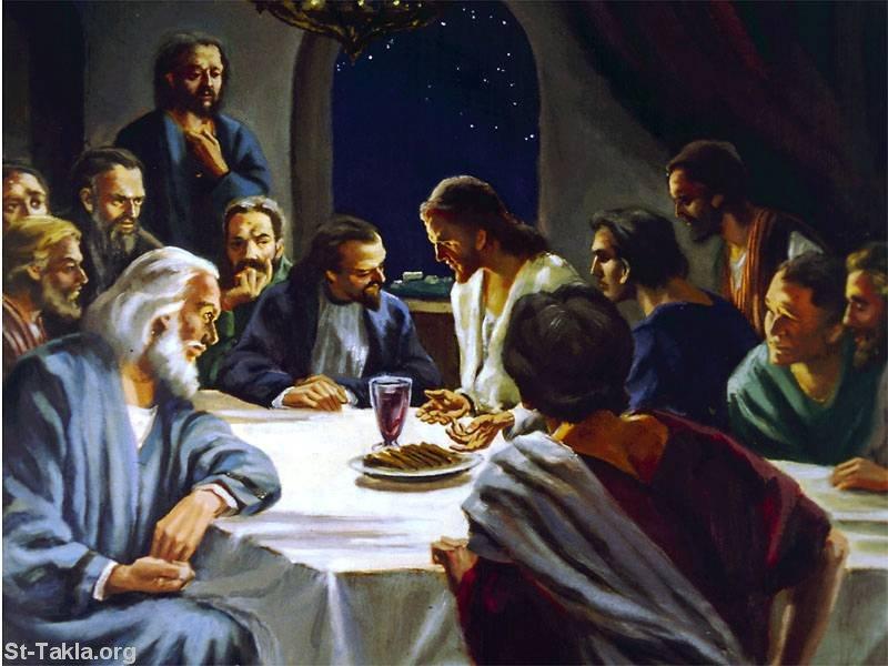 صور من حياة المسيح يارب تعجبكم Www-St-Takla-org___The-Last-Supper-09