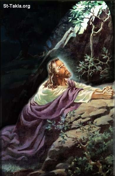 صور من حياة المسيح يارب تعجبكم Www-St-Takla-org___Jesus-Praying-in-Gethsemane-Garden-03