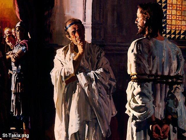 صور من حياة المسيح يارب تعجبكم Www-St-Takla-org___Jesus-Trial-04