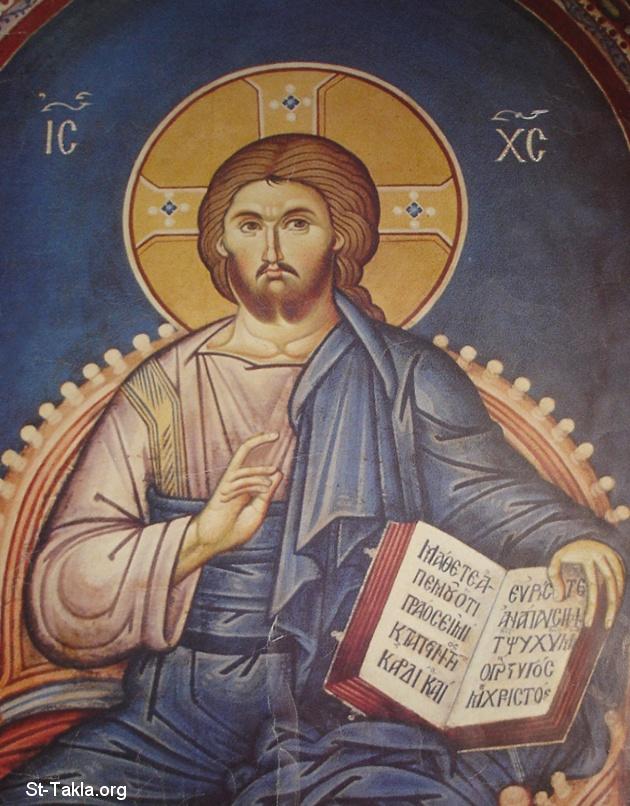 شخصية المسيح الفريدة Www-St-Takla-org___Jesus-Christ-Pantokrator-38
