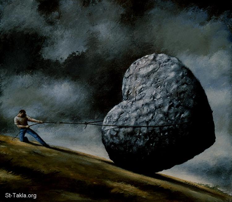 وعيد.....ونذير. Www-St-Takla-org___Holding-Stone-Heart-Painting