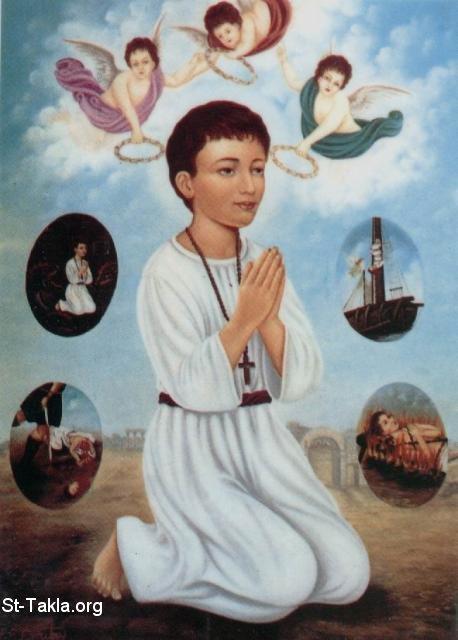 صور للشهيد ابانوب St-Takla-org_Coptic-Saints_Saint-Abanoub-03