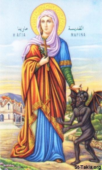 """موسوعه كاملة متكامله عن الفتاة التى غلبت الشيطان..... اميرة الشهيدات """" مارينا """" St-Takla-org_Coptic-Saints_Saint-Marina-02"""