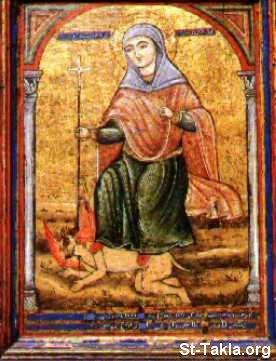 """موسوعه كاملة متكامله عن الفتاة التى غلبت الشيطان..... اميرة الشهيدات """" مارينا """" St-Takla-org_Coptic-Saints_Saint-Marina-03"""