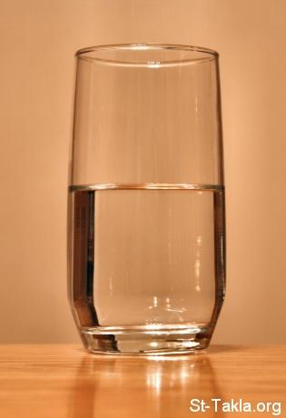 انظر للجزء الملئ من الكوب  Www-St-Takla-org___Glass-of-Water
